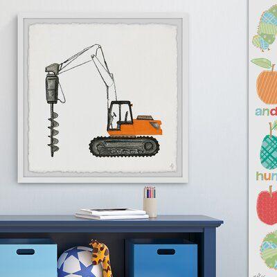 Roscoe 'Drilling Truck' Framed Art
