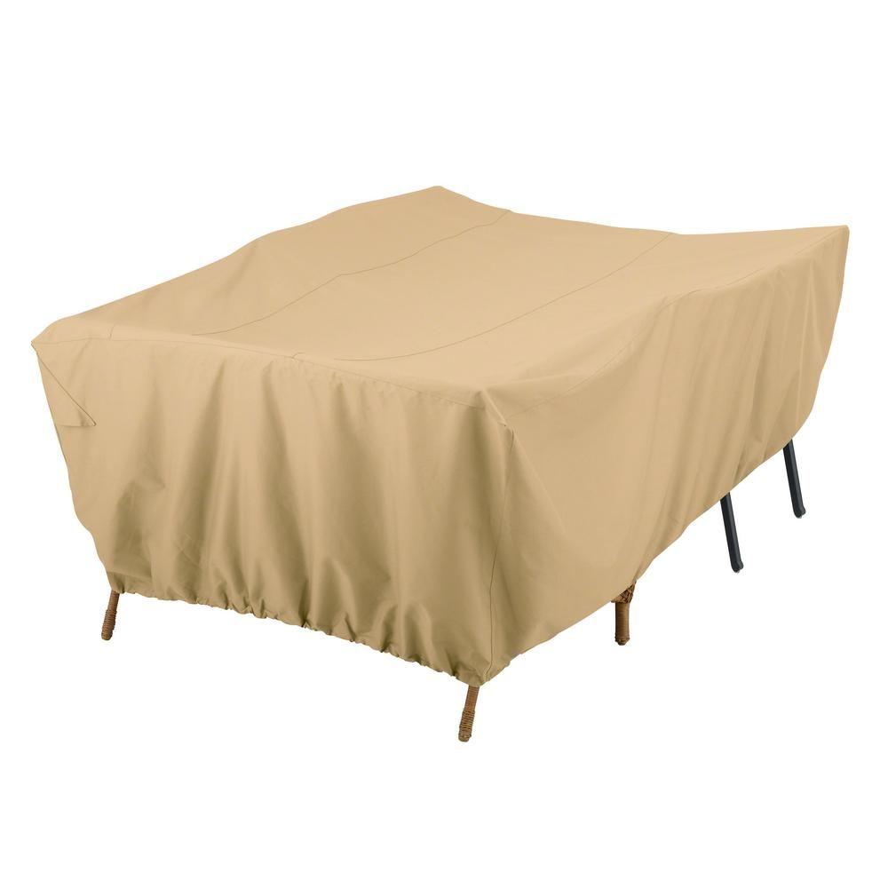 Classic Accessories Terrazzo Conversation Set/Patio Furniture Group Cover, Brown