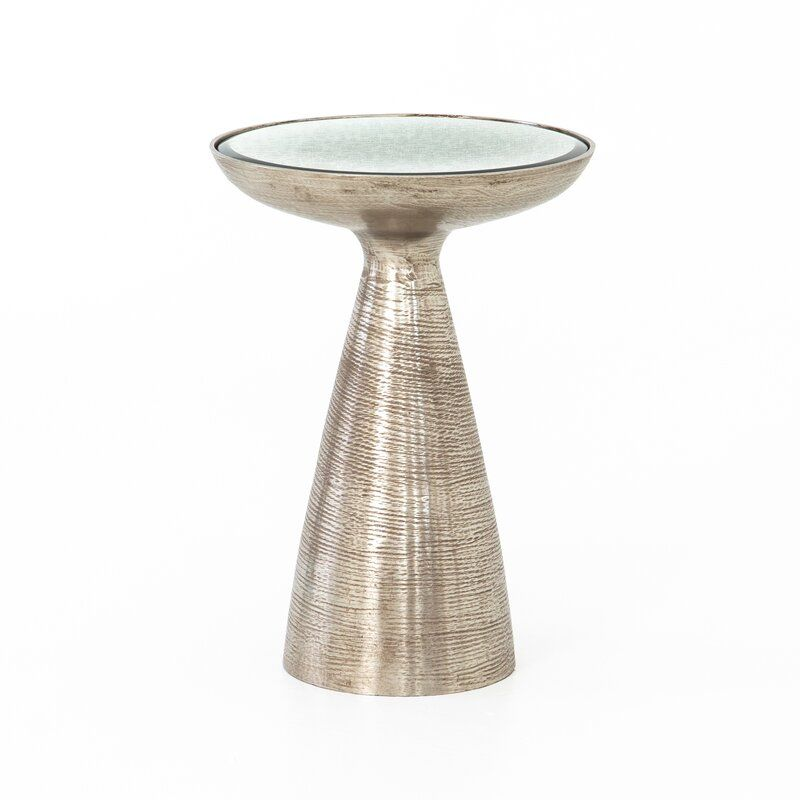 Four Hands Marlow Mod Pedestal End Table