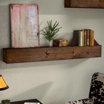 Doroteia Wood Mantle Floating Shelf