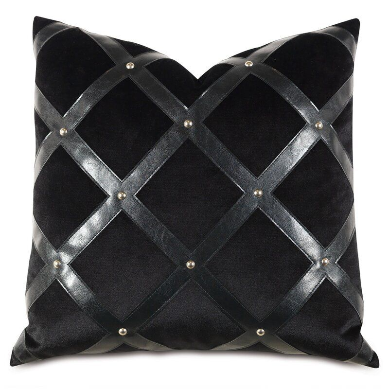 Eastern Accents Barclay Butera Faux Leather Throw Pillow