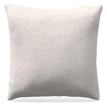 "20""x 20"" Welt Seam Pillow, Performance Coastal Linen, Stone White"
