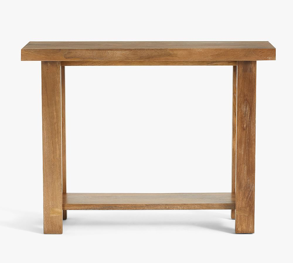 """Reed 40"""" Console Table, Antique Umber"""
