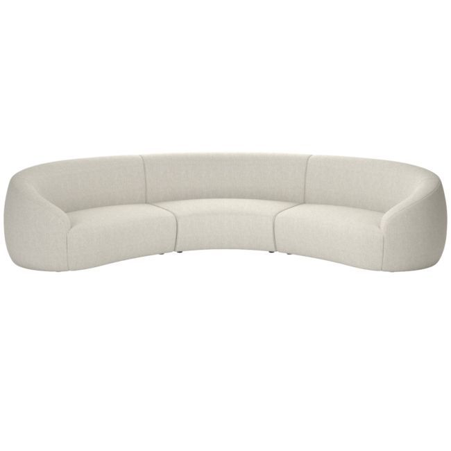 Roma 3-Piece Sectional Sofa Nomad Snow