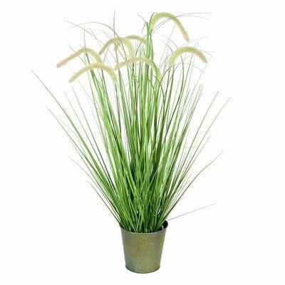 Artificial Cattail Grass in Pot