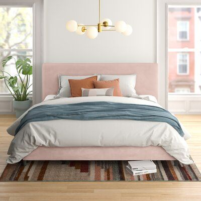 Omar Upholstered Low Profile Platform Bed