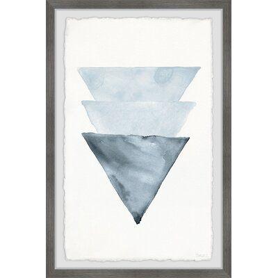 Triangles Overlap by Parvez Taj - Picture Frame Print on Paper