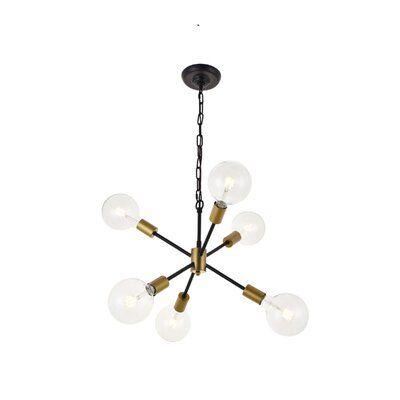 Velva 6-Light Sputnik Sphere Chandelier