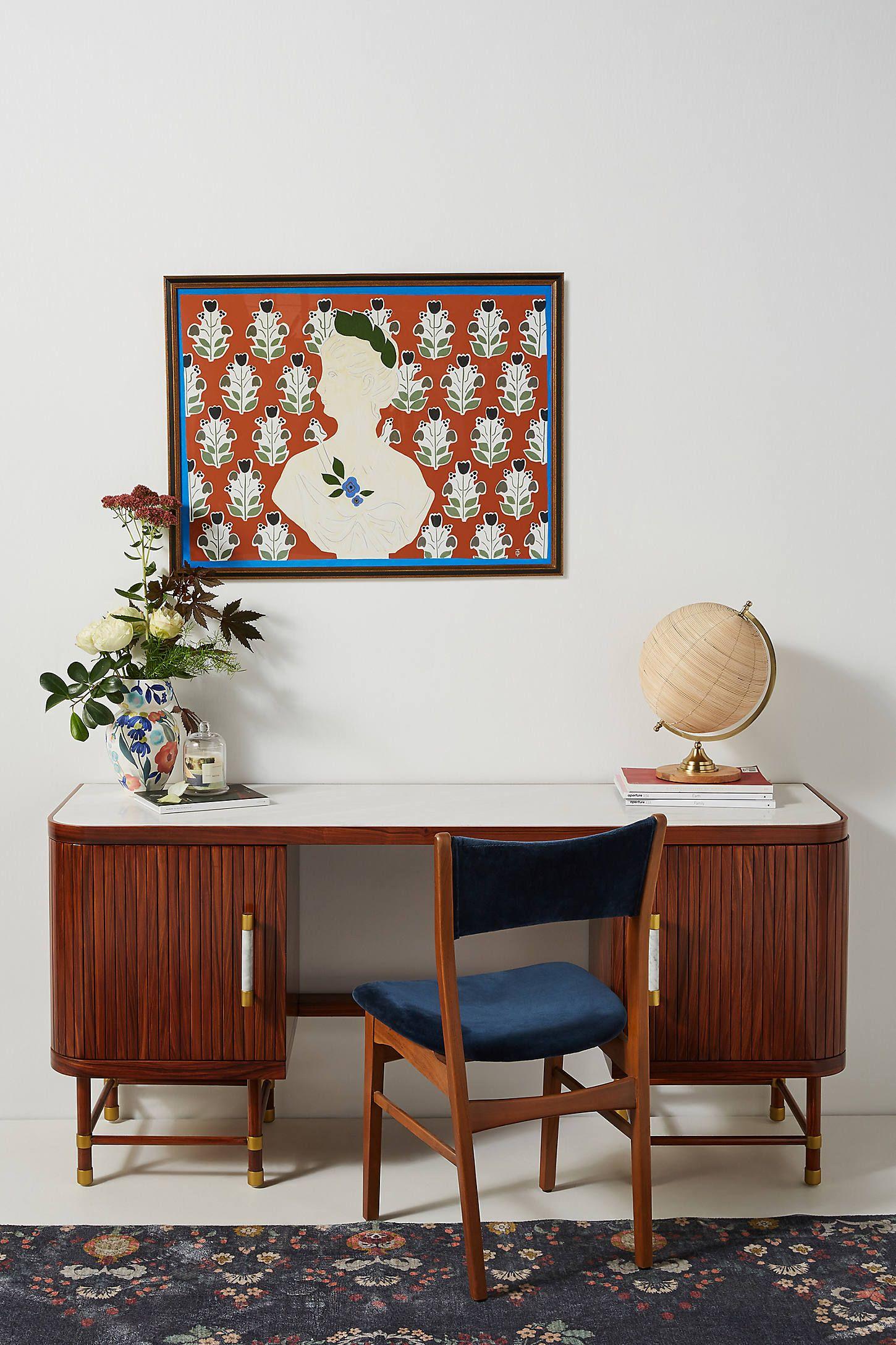 Deluxe Tamboured Desk
