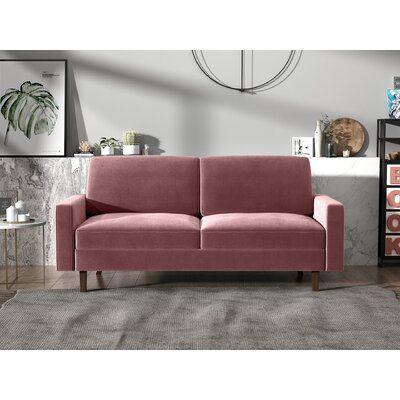"Jo Velvet 70"" Square Arm Sofa"