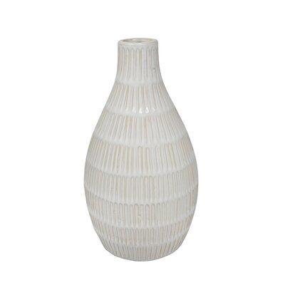 Domingue Ceramic Tribal Look Table Vase