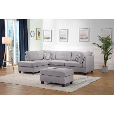 """Sunnydale 105"""" Reversible Sectional with Ottoman"""