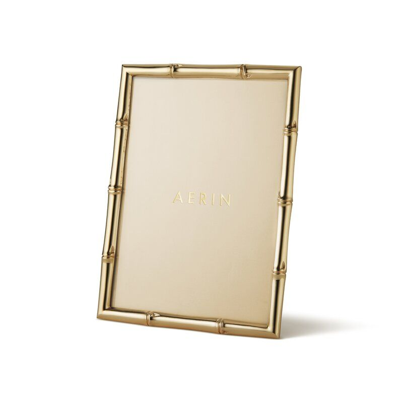 """AERIN Mayotte Bamboo Picture Frame Picture Size: 4"""" x 6"""""""