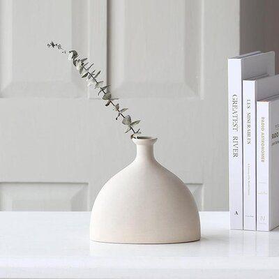 Ceramic Minimalist Vase, Minimalist Bisque, Handmade Ceramic Vase