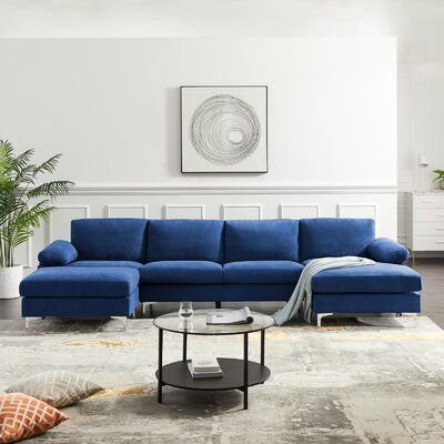 """Fitchner 131"""" Wide Reversible Corner Sectional with Ottoman"""