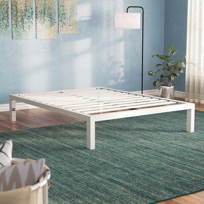 """Virgilina 14"""" Steel Platform Bed Frame"""