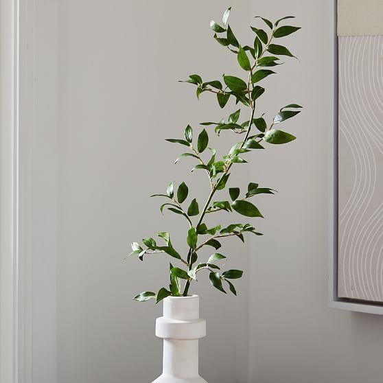 Faux Ficus Leaf Stem, 36in