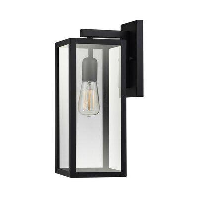 "Andalucia Matte Black 1 - Bulb 14.76"" H Outdoor Wall Lantern"