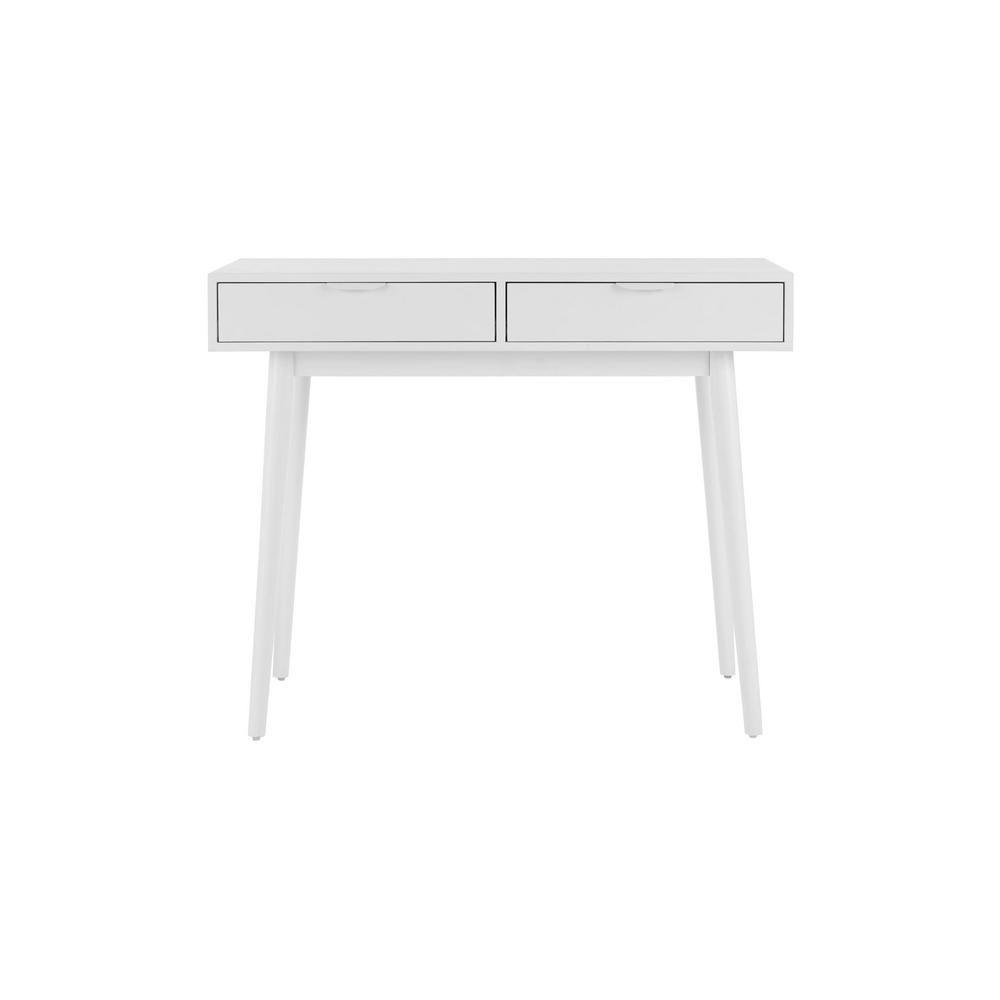 StyleWell Amerlin White Wood Vanity Desk