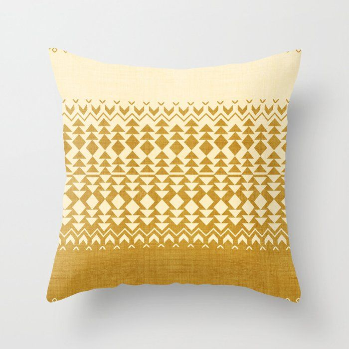 """Sollia In Gold Couch Throw Pillow by Becky Bailey - Cover (16"""" x 16"""") with pillow insert - Indoor Pillow"""