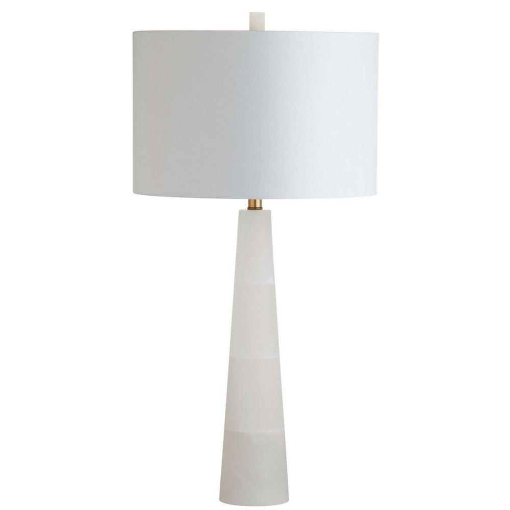 Safavieh Delilah 30 in. White Alabaster Table Lamp