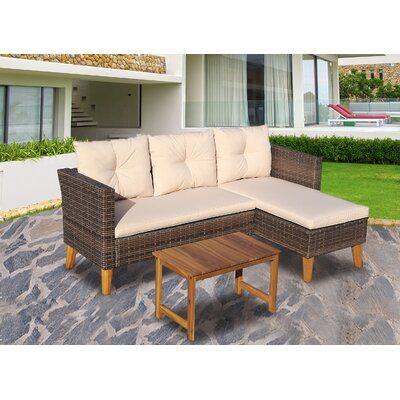 Akiylah 3 Piece Sectional Seating Group with Cushions
