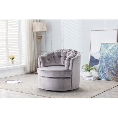 Haldeman Swivel Barrel Chair