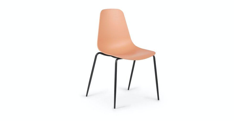 Svelti Grano Laguna Orange Dining Chair - Set of 2
