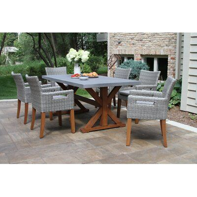 Windermere 7 Piece Dining Set with Cushions