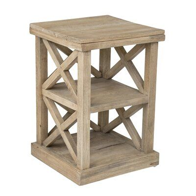Haralson Solid Wood End Table with Storage