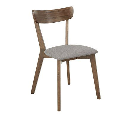 Winona Upholstered Side Dining Chair in Walnut/Gray