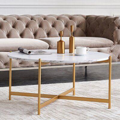 Filicia Cross Legs Coffee Table
