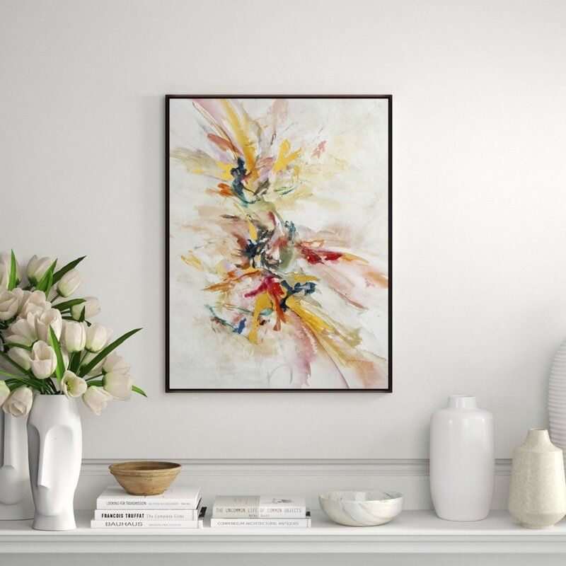 """Chelsea Art Studio 'Endless Dream by Jean Kenna' by Jean Kenna - Floater Frame Painting on Canvas Size: 33.5"""" H x 25.5"""" W x 1.5"""" D, Format: Image Gel Brush"""