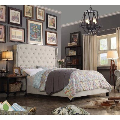 Apolo Tufted Upholstered Low Profile Standard Bed