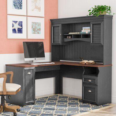 Niles L-Shape Executive Desk with Hutch