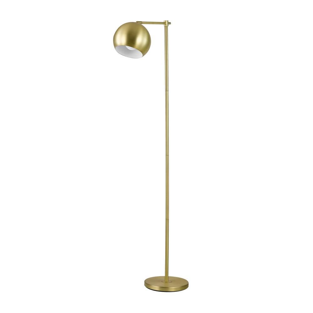 Globe Electric Molly 60 in. Gold Floor Lamp