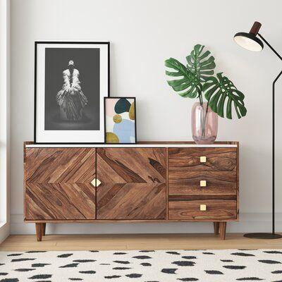 Alanna Solid Acacia Wood Sideboard