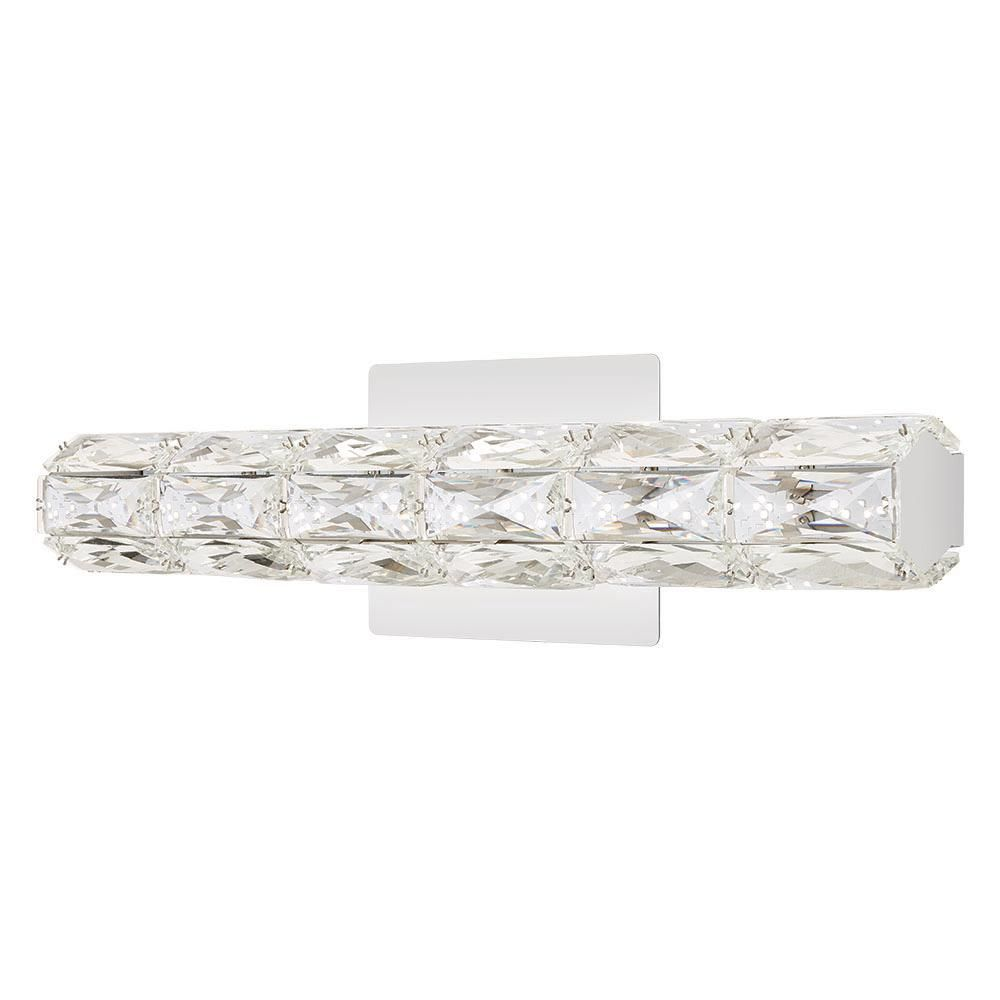 Home Decorators Collection Keighley 18 in. Chrome LED Crystal Vanity Light Bath Bar