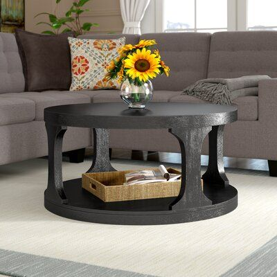 Abbington Floor Shelf Coffee Table with Storage