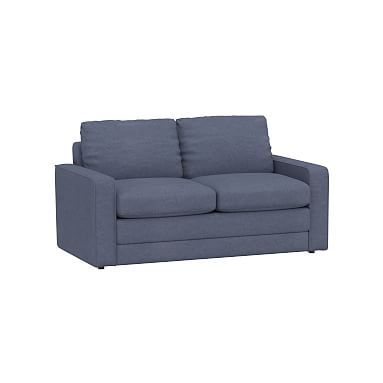 Grove Sleeper Sofa, Enzyme Washed Canvas Storm Blue