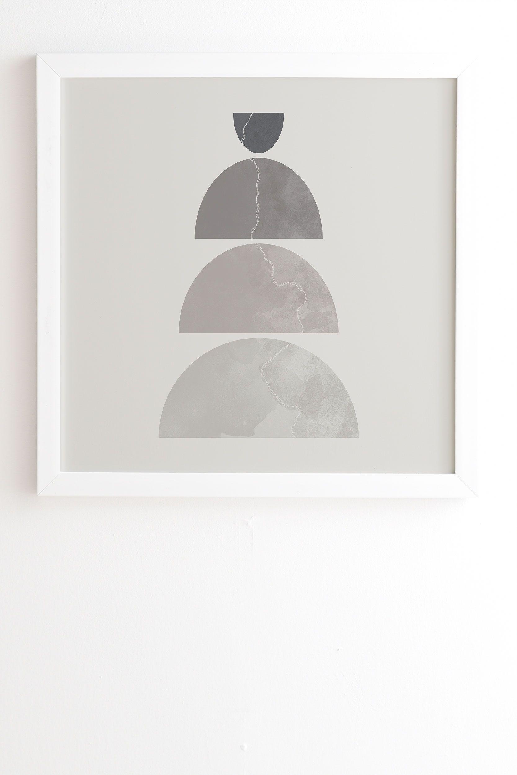 "Monochrome Balance 1 by Alisa Galitsyna, Framed Wall Art Print, White, 30"" x 30"""