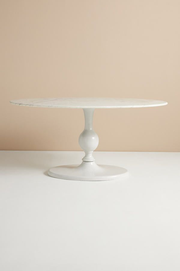 Annaway Oval Dining Table By Anthropologie in White