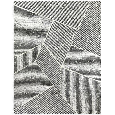 Nickelsville Striped Black/Beige Area Rug
