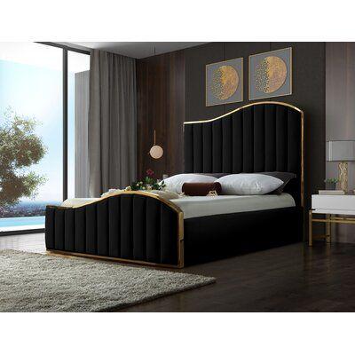 Wulff Velvet Upholstered Platform Bed