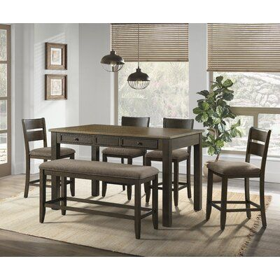 Gambrills 6 - Piece Counter Height Dining Set