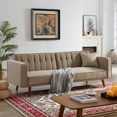 Oliveri 85.43'' Square Arm Sofa Bed