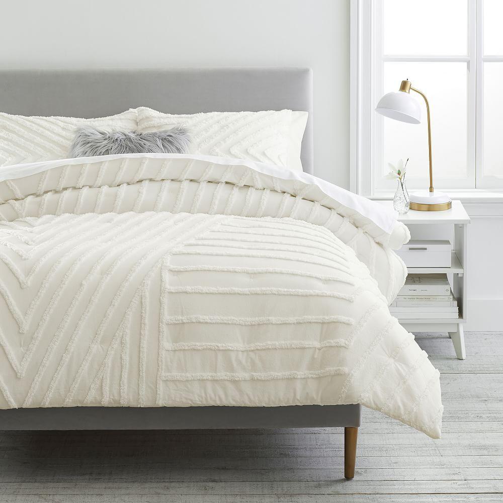 Modern Artisan Comforter, Full/Queen, Ivory
