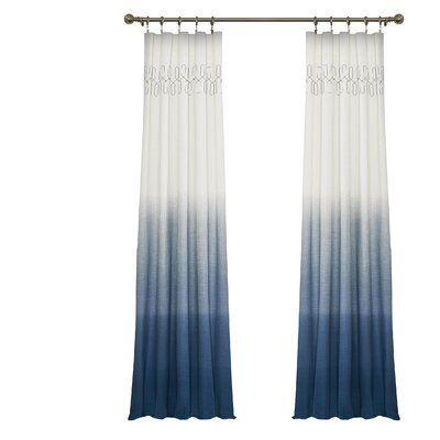 Higbee 100% Cotton Ombre Sheer Rod Pocket Single Curtain Panel
