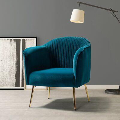 """Masson 27"""" W Velvet Barrel Chair"""