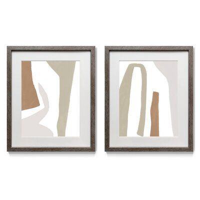 Format Frolic I - 2 Piece Picture Frame Painting Print Set on Paper